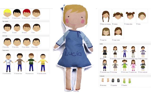 Muñeca personalizada y procesos de personalización
