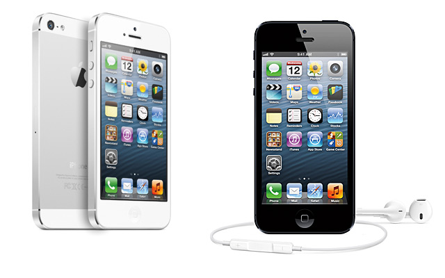 iPhone 5 negro blanco