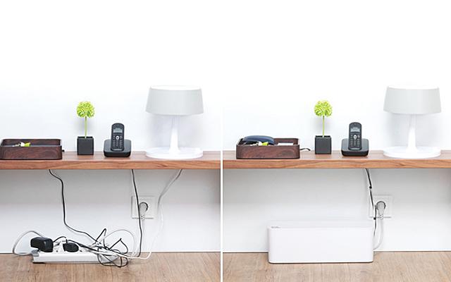 Soluciones para ocultar y recoger cables for Recoger muebles