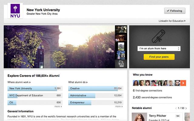 Linkedin lanza University Pages para los estudiantes