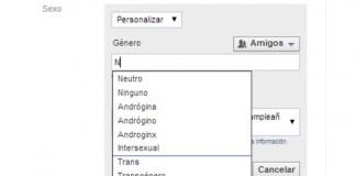 Facebook te permite elegir el género personalizado