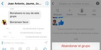 messenger facebook borrar