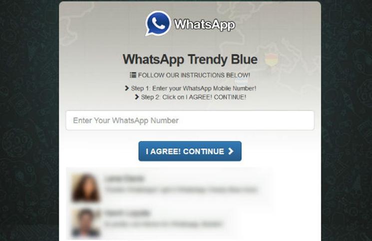 WhatsApp Trendy Blue, nuevo timo